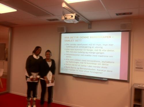 Unge Utforskere Drammen har i dag, 12. desember 2013, lagt frem sitt prosjekt om omskjæring av jenter.